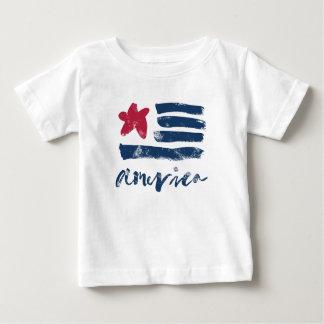 T-shirt Pour Bébé Drapeau américain Paintstrokes