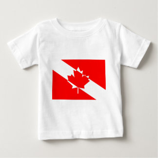 T-shirt Pour Bébé Drapeau canadien de plongeur autonome