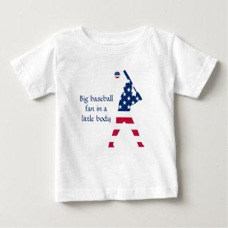 T-shirt Pour Bébé Drapeau d'Américain de base-ball de l'Amérique