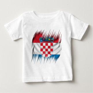 T-shirt Pour Bébé Drapeau de Croate de défibreurs
