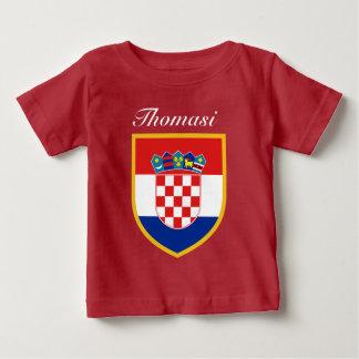 T-shirt Pour Bébé Drapeau de la Croatie personnalisé