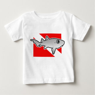 T-shirt Pour Bébé Drapeau de piqué de requin d'infirmière de bande