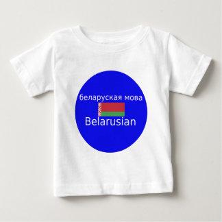 T-shirt Pour Bébé Drapeau du Belarus et conception de langue