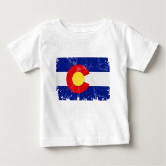 T-shirt Pour Bébé Drapeau du Colorado affligé