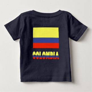 T-shirt Pour Bébé Drapeau et nom de Colombie