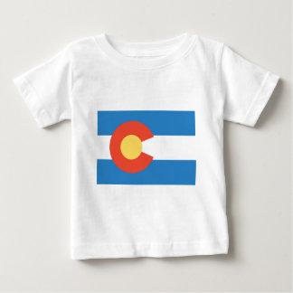 T-shirt Pour Bébé Drapeau officiel d'état du Colorado