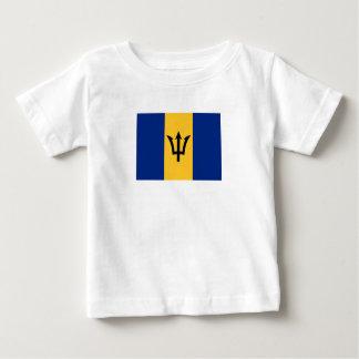 T-shirt Pour Bébé Drapeau patriotique des Barbade