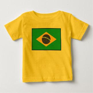 T-shirt Pour Bébé Drapeau simple du Brésil