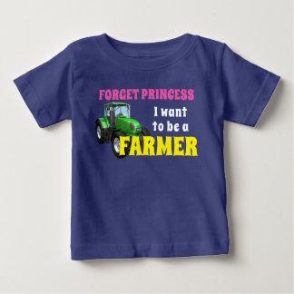 """T-shirt Pour Bébé Drôle """"je veux être un agriculteur """""""