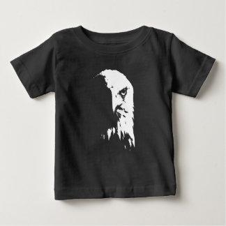 T-shirt Pour Bébé Eagle chauve noir et blanc