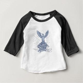 T-shirt Pour Bébé Eagle et dessin de montagnes de dragon