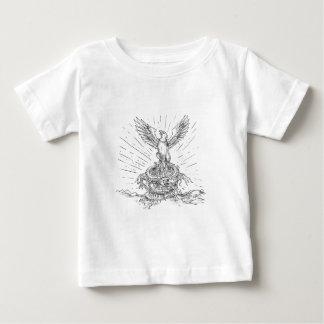 T-shirt Pour Bébé Eagle se levant comme le tatouage de Phoenix et de