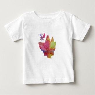 T-shirt Pour Bébé Eagle sur l'île de flottement