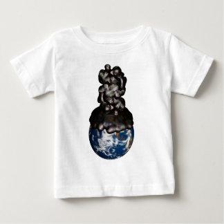 T-shirt Pour Bébé Earth cover by sticky petroleum
