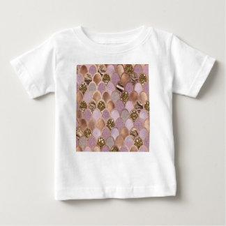 T-shirt Pour Bébé Échelles magenta de sirène - or rose de plaisir