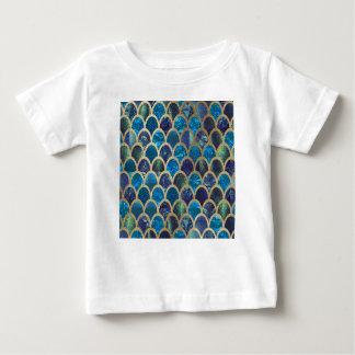 T-shirt Pour Bébé Échelles turquoises de sirène