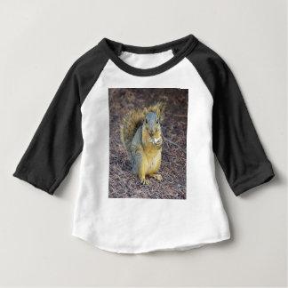 T-shirt Pour Bébé Écureuil affamé heureux