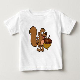 T-shirt Pour Bébé Écureuil de bande dessinée avec l'écrou