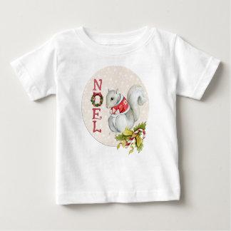 T-shirt Pour Bébé Écureuil de fête de Noel