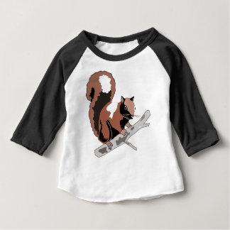 T-shirt Pour Bébé Écureuil en bois