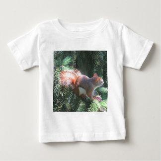 T-shirt Pour Bébé Écureuil rouge