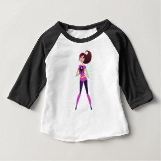 T-shirt Pour Bébé Édition originale de conception de fille de super