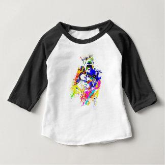 T-shirt Pour Bébé Effet de peinture d'éclaboussure de gorille de
