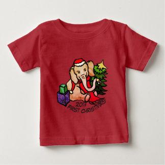T-shirt Pour Bébé Éléphant adorable de bande dessinée de premier