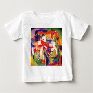 T-shirt Pour Bébé Éléphant, cheval, bétail, hiver par Franz Marc