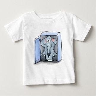 T-shirt Pour Bébé Éléphant de bande dessinée se reposant à