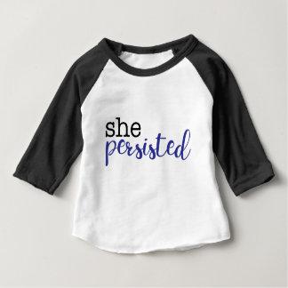 T-shirt Pour Bébé Elle a persisté (noir/bleu)