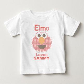 T-shirt Pour Bébé Elmo vous aime que   ajoutent votre nom