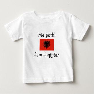 T-shirt Pour Bébé Embrassez-moi ! Je suis albanais (le garçon)