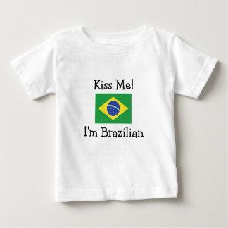 T-shirt Pour Bébé Embrassez-moi ! Je suis brésilien