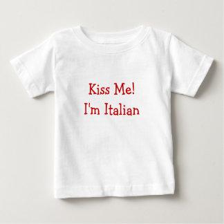 T-shirt Pour Bébé Embrassez-moi ! Je suis italien