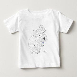 T-shirt Pour Bébé Emplacement de Westie à mes pieds