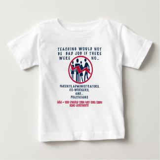 T-shirt Pour Bébé ENSEIGNEMENT PAS d'un MAUVAIS TRAVAIL SI de base