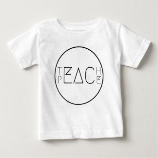 T-shirt Pour Bébé Enseignez la paix