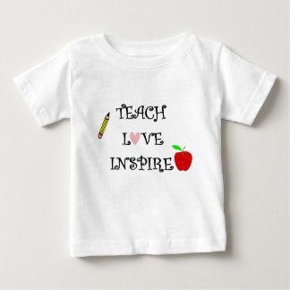 T-shirt Pour Bébé enseignez l'amour inspirent