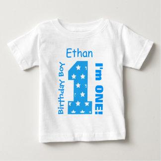 T-shirt Pour Bébé ęr Le garçon d'anniversaire TIENT LE PREMIER RÔLE