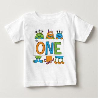 T-shirt Pour Bébé ęr Pièce en t de monstre d'anniversaire