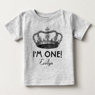 T-shirt Pour Bébé ęr Prince royal Crown d'anniversaire un an