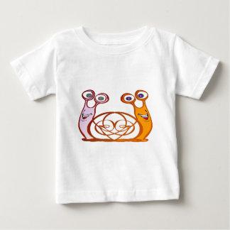 T-shirt Pour Bébé escargots colorés