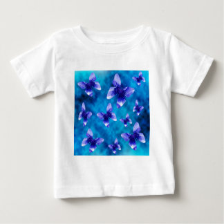 T-shirt Pour Bébé Été bleu de papillon