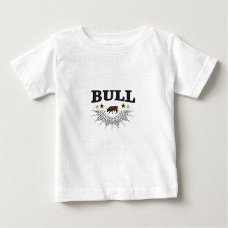 T-shirt Pour Bébé étiquette brun de taureau