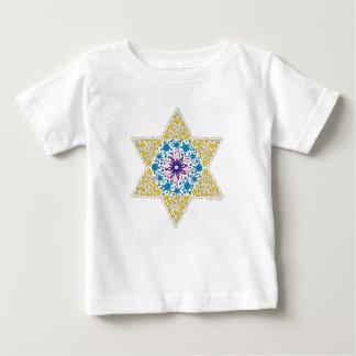 T-shirt Pour Bébé Étoile de David vintage bleue et jaune - Magen