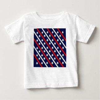 T-shirt Pour Bébé étoiles bleues blanches rouges patriotiques