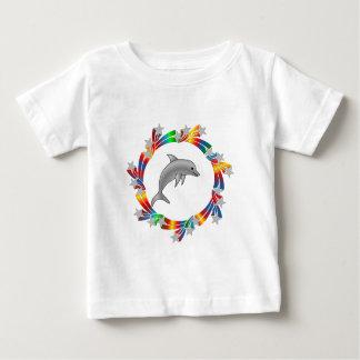 T-shirt Pour Bébé Étoiles de dauphin