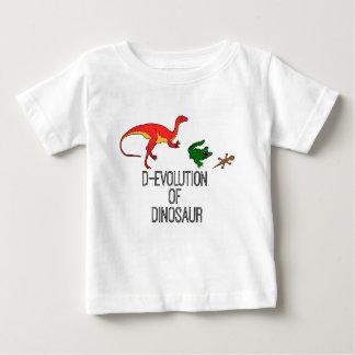 T-shirt Pour Bébé Évolution de D de dinosaure