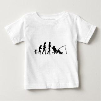 T-shirt Pour Bébé évolution de pêcheur